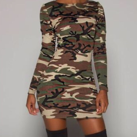 502e87b7ee19f Rainbow Dresses | Army Fatigue Short Sleeve Dress | Poshmark